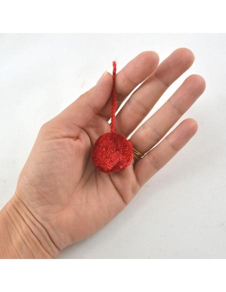 Pompon boule 3cm - Noir