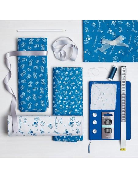 Tissu en coton I Love Couture Porcelaine motif 127