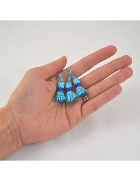 Petit Pompon Flochette 2,5cm - Bleu azur