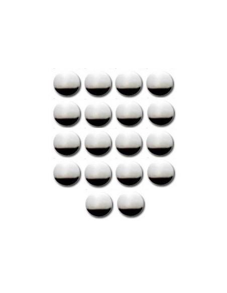 Décors Ronds thermocollant 10mm Argent - 18 pièces