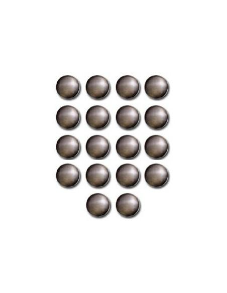 Décors Ronds thermocollant 10mm Or antique - 18 pièces