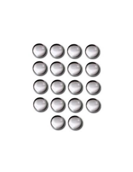 Décors Ronds thermocollant 10mm Aspect verre - 16 pièces
