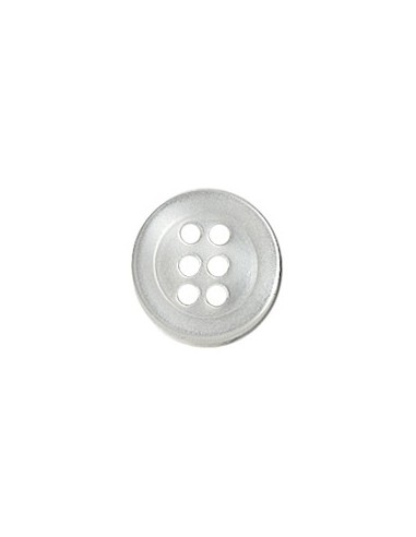 Bouton Six trous 9mm Blanc