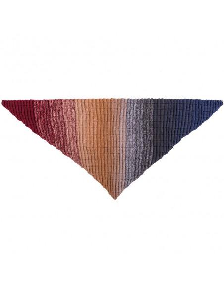 Pelote Creative wool dégradé super 6 rouge-bleu