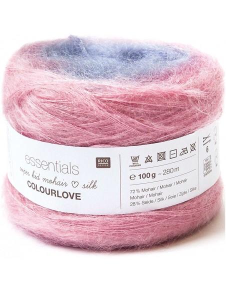 Pelote Essentials super kid mohair loves silk colourlove rose