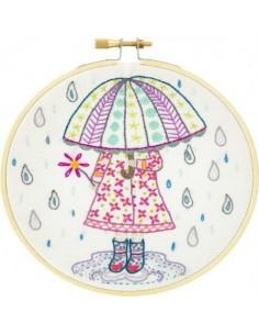 Kit à broder - Emilie aime la pluie