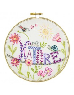 Kit à broder - Vive la nature !