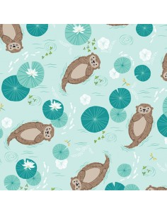Tissu en coton Rivelin valley - Otters