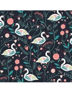 Tissu en coton Rivelin valley - Swans