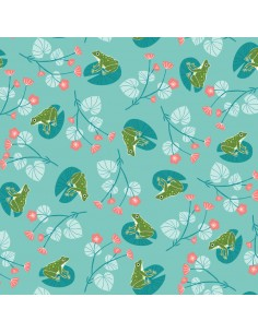 Tissu en coton Rivelin valley - Frogs