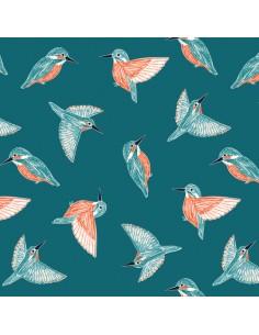 Tissu en coton Rivelin valley - Kingfisher