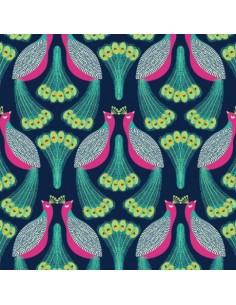 Tissu en coton Belle époque - Paons