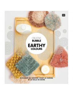 Creative Bubble Earthy Colours : réaliser au crochet de drôles d'éponges pour la vaisselle