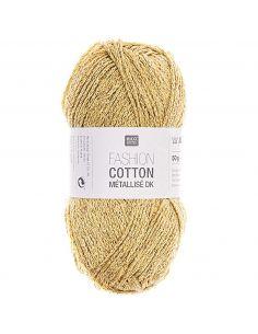 Pelote Fashion cotton métallisé dk or jaune