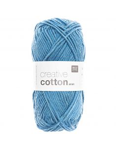 Pelote Creative cotton aran bleu