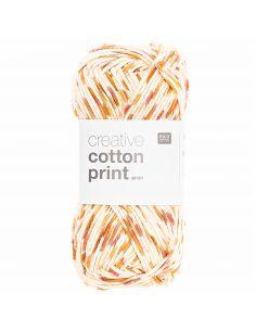 Pelote Creative cotton print aran rouge-orange spray