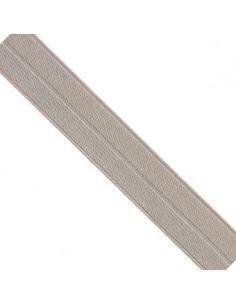 Bordure élastique 17mm nude rayé lurex argent