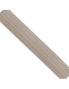 Bordure élastique 17mm nude rayé lurex doré