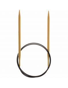 Aiguilles à tricoter circulaires Bambou 80cm câble noir n°5,5