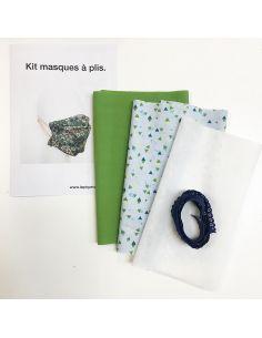 Kit pour réaliser 2 masques à plis triangles