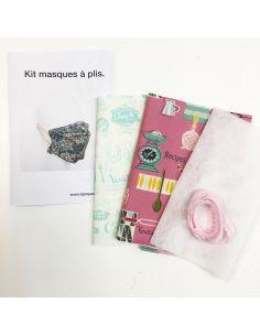Kit pour réaliser 2 masques à plis cuisine