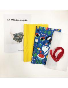 Kit pour réaliser 2 masques à plis eden