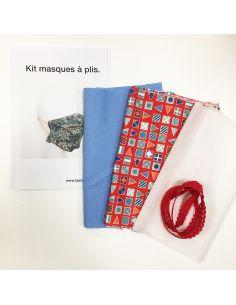 Kit pour réaliser 2 masques à plis pavillon