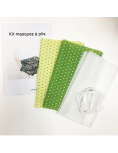 Kit pour réaliser 2 masques à plis vert