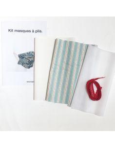 Kit pour réaliser 2 masques à plis rayures