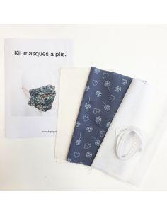 Kit pour réaliser 2 masques à plis points