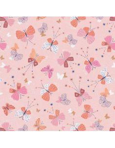 Tissu en coton Celeste Papillons