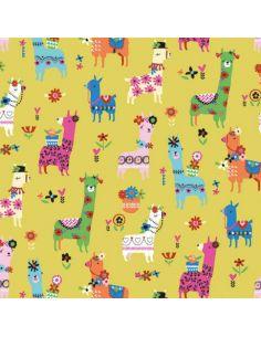 Tissu en coton Fiesta Lamas