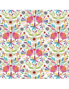 Tissu en coton Fiesta Flores