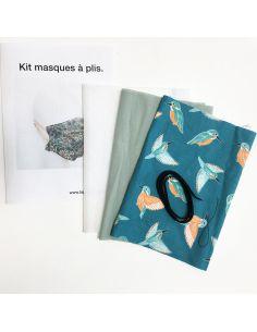 Kit pour réaliser 2 masques à plis martin-pêcheur