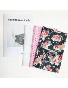 Kit pour réaliser 2 masques à plis stone fleuri
