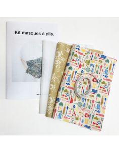 Kit pour réaliser 2 masques à plis ustensils