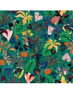 Tissu viscose Gardenia caribe vert