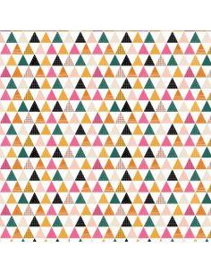Tissu en coton collection Geo Forest Triangles
