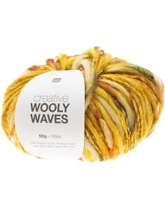 Pelote Creative wooly waves jaune