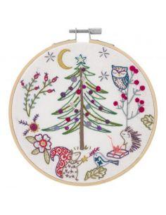 Kit à broder - Noël en forêt