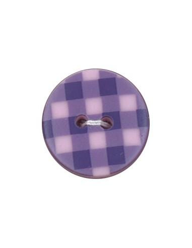 Bouton Imprimé 18mm Vichy Pervenche