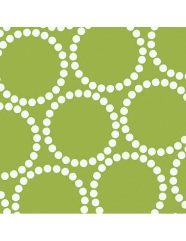 Tissu en coton Catnap Pearl Bracelet Green