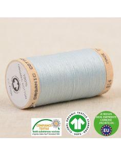 Bobine de 275m de fil à coudre 100% Coton bio Bleu layette