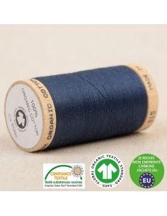 Bobine de 275m de fil à coudre 100% Coton bio Marine