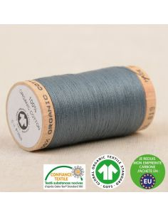 Bobine de 275m de fil à coudre 100% Coton bio Gris moyen