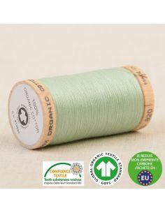 Bobine de 275m de fil à coudre 100% Coton bio Vert d'eau