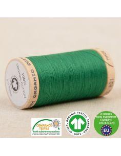 Bobine de 275m de fil à coudre 100% Coton bio Vert Normandie