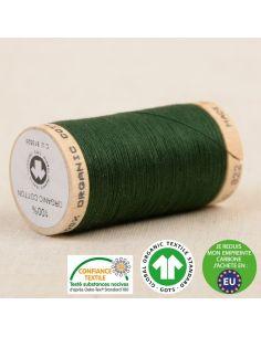 Bobine de 275m de fil à coudre 100% Coton bio Vert bouteille