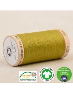 Bobine de 275m de fil à coudre 100% Coton bio Pistache