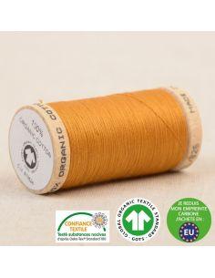 Bobine de 275m de fil à coudre 100% Coton bio Vieil or
